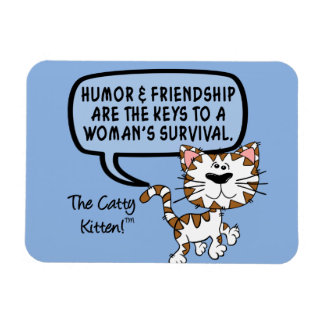 Humor & friendship are necessary for survival rectangular photo magnet