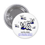 humor funny welcome summer cartoon mosquitoes buttons