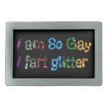 Humor gay soy así que gay que fart brillo hebilla cinturon rectangular
