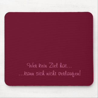 Humor - german Text Mouse Pad
