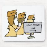 Humor graduado del desempleo alfombrillas de ratones