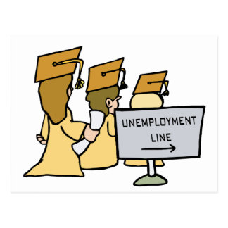 Humor graduado del desempleo postales