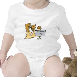 Humor graduado del desempleo trajes de bebé