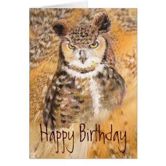 Humor Great Horned Owl - Wild & Crazy Friend Card