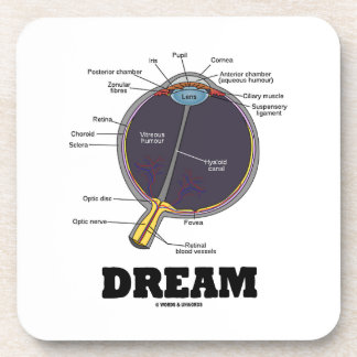 Humor humano anatómico ideal del globo del ojo del posavasos de bebida