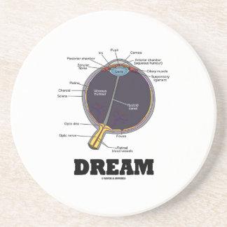 Humor humano anatómico ideal del globo del ojo del posavasos personalizados