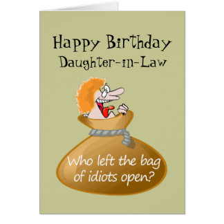 Funny Daughter In Law Greeting Cards Zazzle Free Birthday