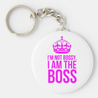 HUMOR I'M NOT BOSSY I AM THE BOSS FUNNY CHEEKY QUO KEYCHAIN