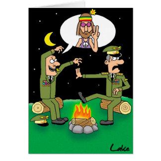 """Humor In Uniform"" funny Miltary  joke card."