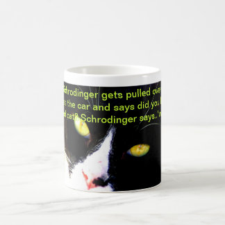 Humor IX de la ciencia y del gato Taza Básica Blanca