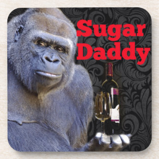 humor joke Funny Sugar Daddy Gorilla Drink Coaster