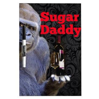 humor joke Funny Sugar Daddy Gorilla Dry-Erase Board