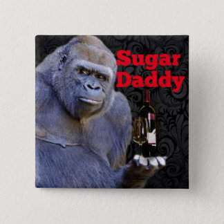 humor joke Funny Sugar Daddy Gorilla Pinback Button
