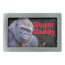 humor joke Funny Sugar Daddy Gorilla Rectangular Belt Buckle