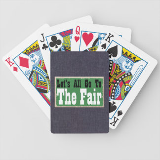 Humor Let's All Go to the Fair Poker Game Cards Bicycle Playing Cards