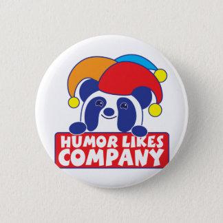 humor like company panda pinback button