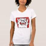Humor lindo de encargo del monstruo del dibujo camisetas