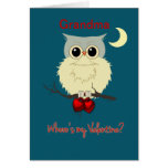 Humor lindo del búho del el día de San Valentín de Felicitacion