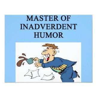 HUMOR master comedian Card