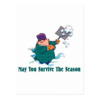 HUMOR: May You Survive Holiday Season Postcard