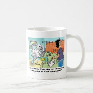 Humor médico del dibujo animado tazas de café