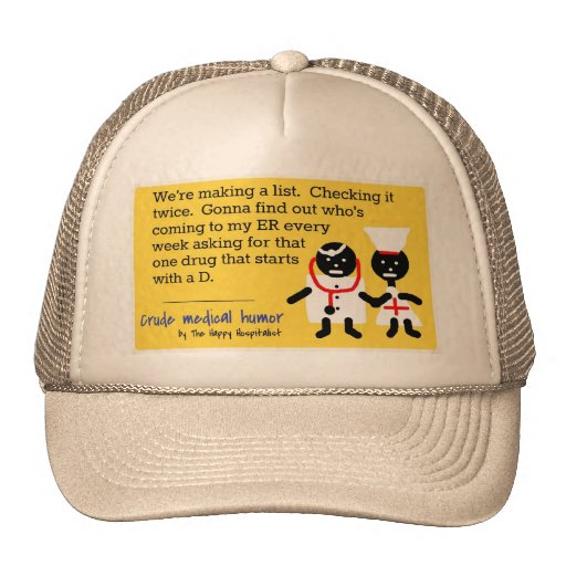 Humor médico gorras de camionero