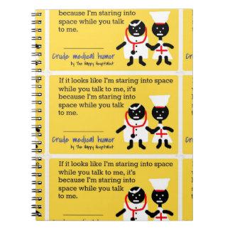 Humor médico libros de apuntes