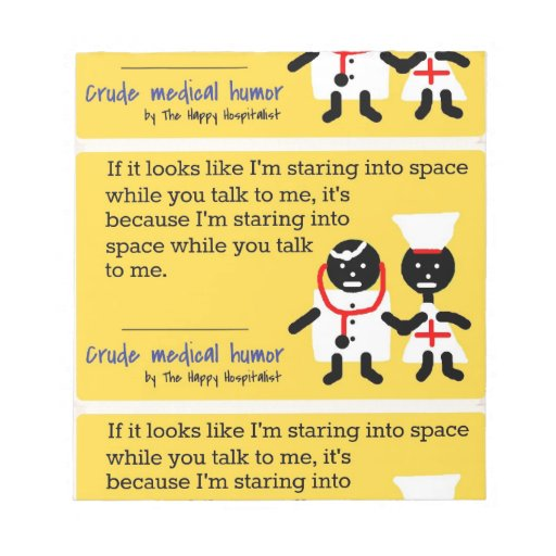 Humor médico libretas para notas