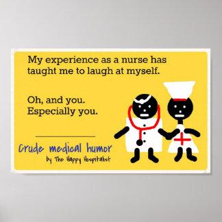 Humor médico póster