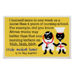 Humor médico posters