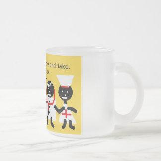 Humor médico taza de café esmerilada