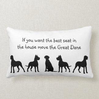 Humor mejor Seat de great dane en animal de mascot Cojín