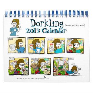 Humor mensual del calendario de pared de Dorkling