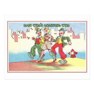 Humor militar de los años 40 del vintage, que está postal