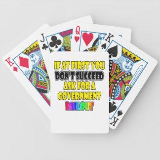 humor moderno del negocio del éxito baraja de cartas
