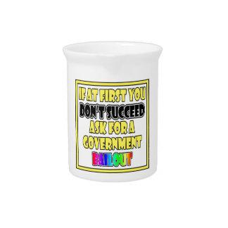 humor moderno del negocio del éxito jarras de beber