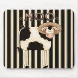 Humor Mousepad de la vaca del país Alfombrilla De Ratones