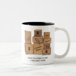 Humor móvil del geólogo tazas