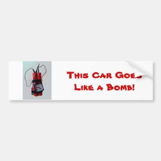 Humor negro - bomba falsa pegatina para auto