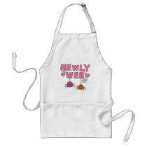 Humor Newly Web Spiders Newly Wed Adult Apron