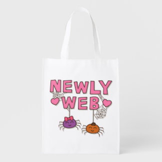 Humor Newly Web Spiders Newly Wed Reusable Grocery Bag