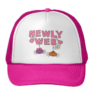 Humor Newly Web Spiders Newly Wed Trucker Hat