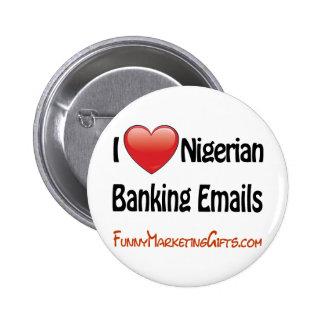 Humor nigeriano del correo electrónico de las acti pin redondo 5 cm