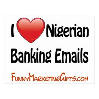 Humor nigeriano del correo electrónico de las acti postal