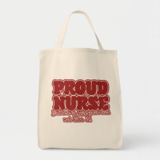 humor orgulloso de la enfermera bolsa tela para la compra