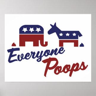 Humor político cada uno impulsos posters