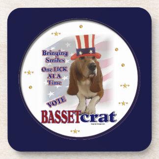Humor político de Basset Hound Posavasos De Bebidas