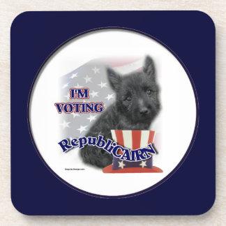 Humor político de Terrier de mojón Posavasos De Bebidas