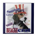 Humor político del beagle azulejo