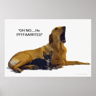 Humor/poster cambiable del perro del texto